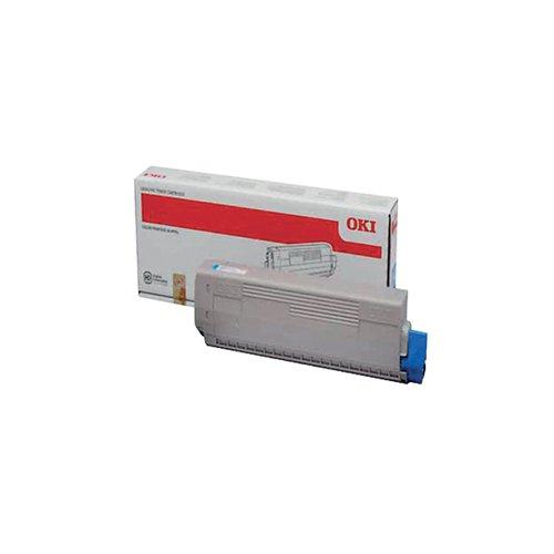 Oki Cyan Toner Cartridge (10 000 Page Capacity) 44844507