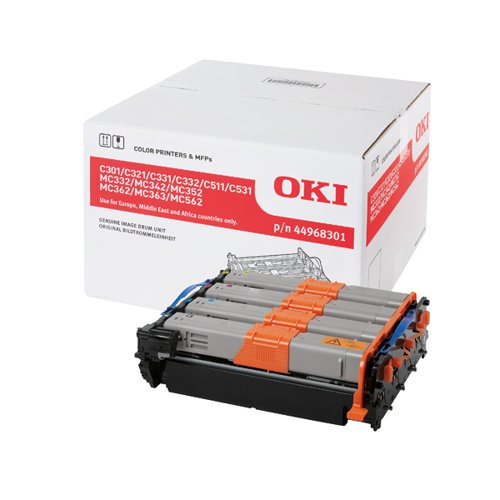 Oki C301/321/331/511/Mc352 Imaging Unit (Capacity: 20,000 colour/30,000 monochrome) 44968301