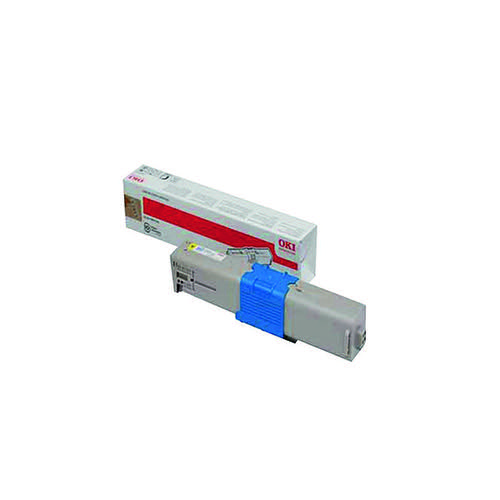 Oki Yellow Toner Cartridge (1,500 Page Capacity) 44973533