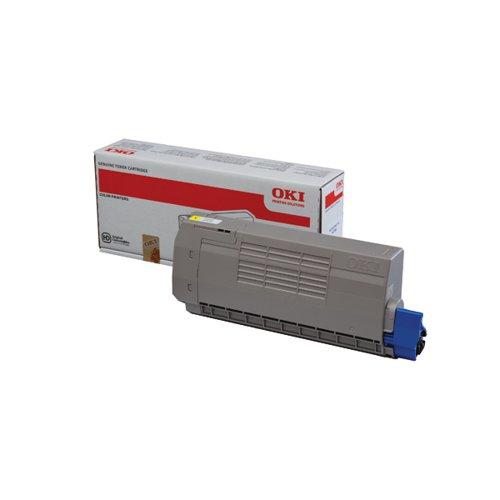 Oki MC760/MC770/MC780 Standard Capacity Laser Yellow Toner Cartridge 45396301