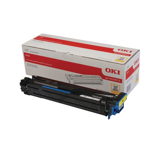 Oki Yellow Laser Image Drum (40000 Page Capacity) - 45103713
