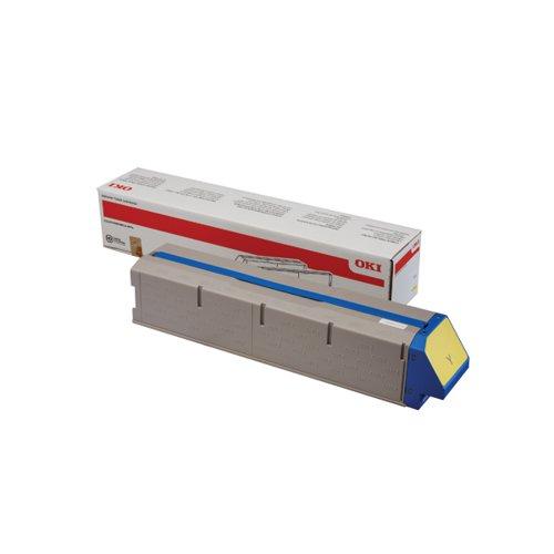 Oki Yellow Toner Cartridge High Capacity (38000 page capacity) 45536505