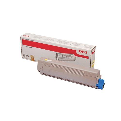 Oki MC873 Yellow Toner 10000 Pages 45862814
