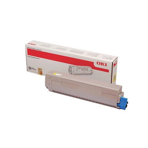 Oki MC853 MC873 7300 Pages Yellow Toner (Capacity: 7300 pages) 45862837
