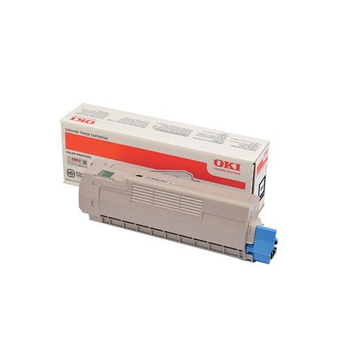 Oki C612 Black Laser Toner Cartridge (8000 Page yield) 46507508