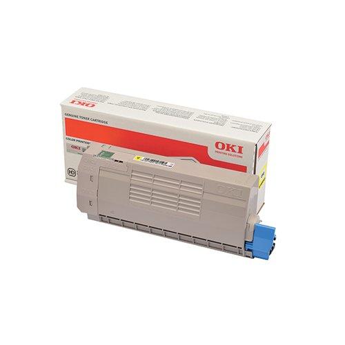 Oki C712 Yellow Laser Toner Cartridge (11 500 page yield) 46507613