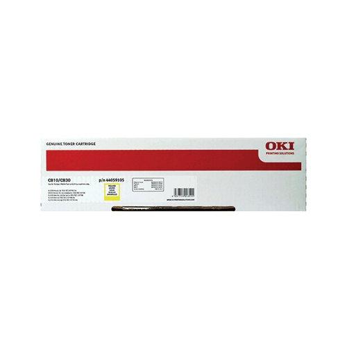 Oki Yellow Toner Cartridge (8 000 Page Capacity) 44059105