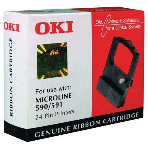 Oki Black Fabric Ribbon For Microline 590/591 09002316