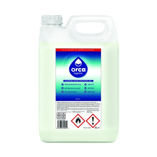 Orca Hygiene Hand Sanitiser Alcohol Gel 5L ORC235