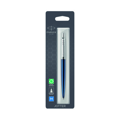 Parker Jotter Royal Blue Chrome Trim Ballpoint Pen Hangsell 1953209