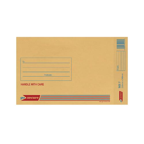 GoSecure Bubble Lined Envelope Size 7 230x340mm Gold (Pack of 20) PB02154