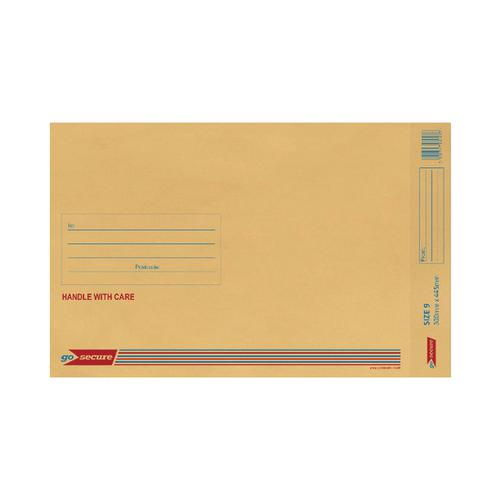 GoSecure Bubble Lined Envelope Size 9 300x445mm (Pack of 20) Gold PB02156
