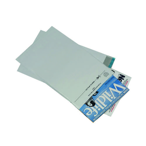 GoSecure Envelope Lightweight Polythene 595x430mm Opaque (Pack of 100) PB11129