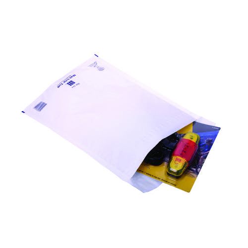 Ampac Envelopes 230x345mm Extra Strong Polythene Padded Bubble Lined White (Pack of 100) KSB-3