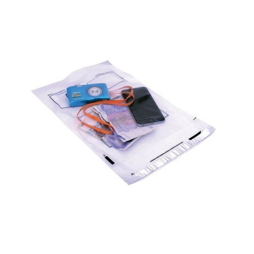 GoSecure Envelope Extra Strong Polythene 240x320mm Clear (Pack of 100) PB24242
