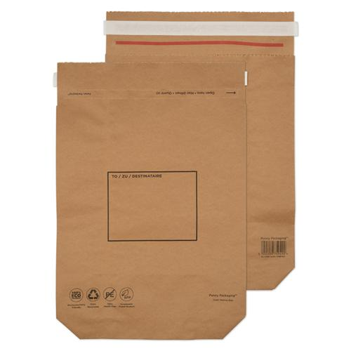 GoSecure Kraft Paper Mailer Bags 420x340x80mm (Pack of 100) KMB1164