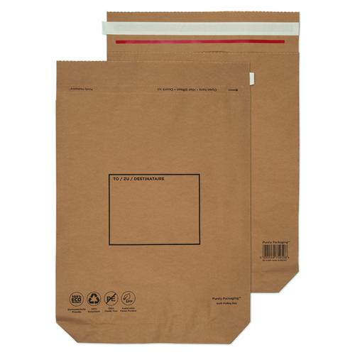 GoSecure Kraft Paper Mailer Bags 480x380x80mm (Pack of 100) KMB1166