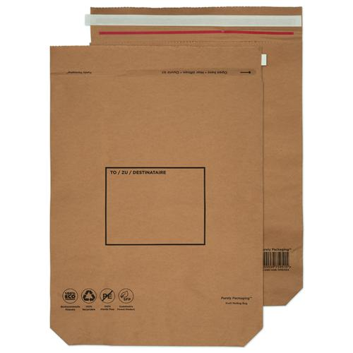 GoSecure Kraft Paper Mailer Bags 600x480x80mm (Pack of 50) KMB1104