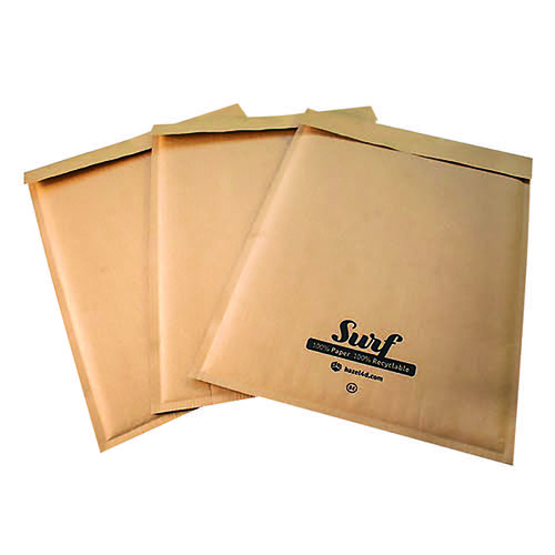 GoSecure Size H5 Surf Kraft Paper Mailer 270mmx360mm (Pack of 100) SURFH5K