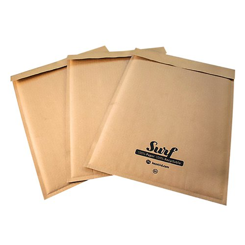 GoSecure Size K7 Surf Kraft Paper Mailer 350mmx470mm (Pack of 100) SURFK7K