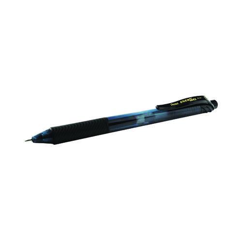Pentel EnerGel Liquid Gel Rollerball Pen 0.7mm Black (Pack of 12) BOGOF