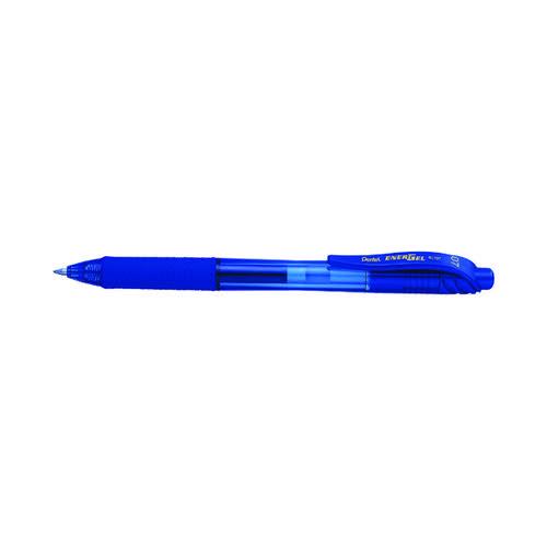 Pentel EnerGel X Gel Grip Rollerball Pen Blue (Pack of 12) BOGOF