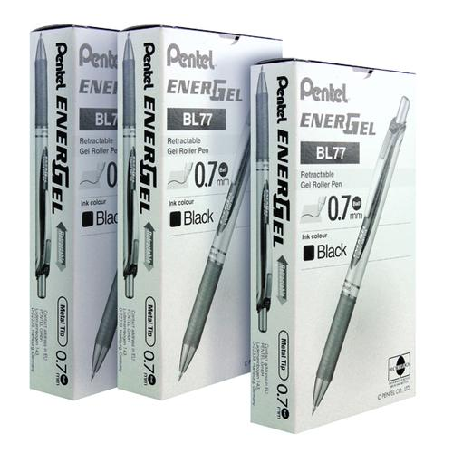 Pentel EnerGel XM Liquid Gel Pen Black (Pack of 12) 3 for 2 PE811471