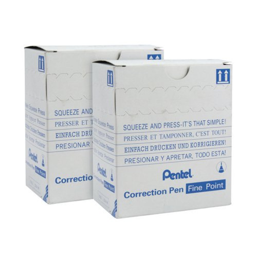 Pentel Micro Correct Pen 12ml Pack of 12 2For1