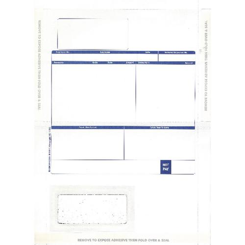 Pegasus Compatible 1-Part Hand-Seal Laser Payslip Mailer MS29S (Pack of 500)