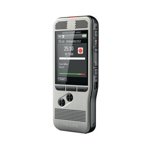 Philips Silver Digital Pocket Memo 6000 Voice Recorder DPM6000