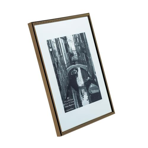 TPAC Photo Album Pinstripe Certificate Frame A4 Black/Gold PACFA4B