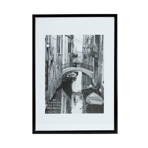 TPAC Photo Backloading Certificate Frame A4 Black A4MARBLK-NG