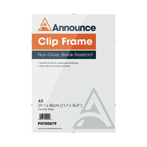 Announce Metal Clip Frame A3 PHT00079