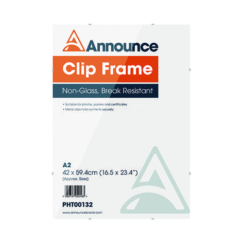 Announce Metal Clip Frame A2 PHT00132