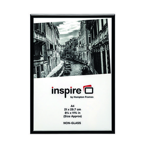TPAC Photo Aluminium Certificate Frame A4 Black PAAFA4Black
