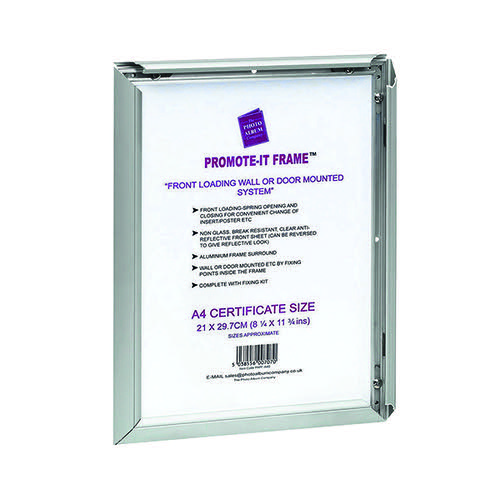 TPAC Photo Promote It Frame A3 Aluminiun (Non-glass break-resistant cover) PAPFA3B