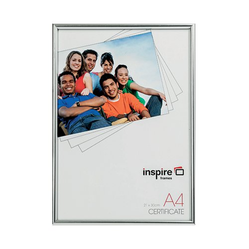 TPAC Photo Back Loader Frame A4 Silver BLRA4SV