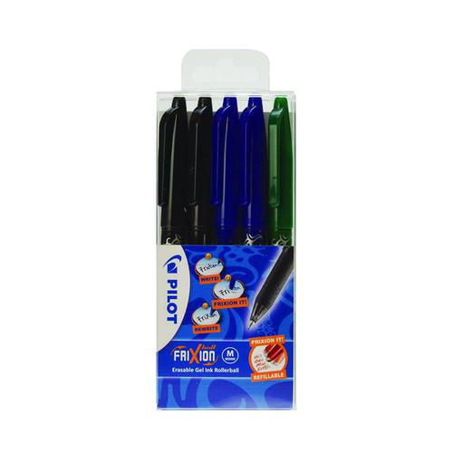 Pilot FriXion Erasable Rollerball Pen Assorted (Pack of 5) 224300530