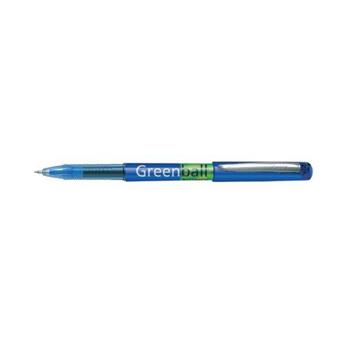 Pilot Greenball Begreen Rollerball Pen Medium Line Blue (Pack of 10) 4902505345258 by Pilot Pen, PI45289