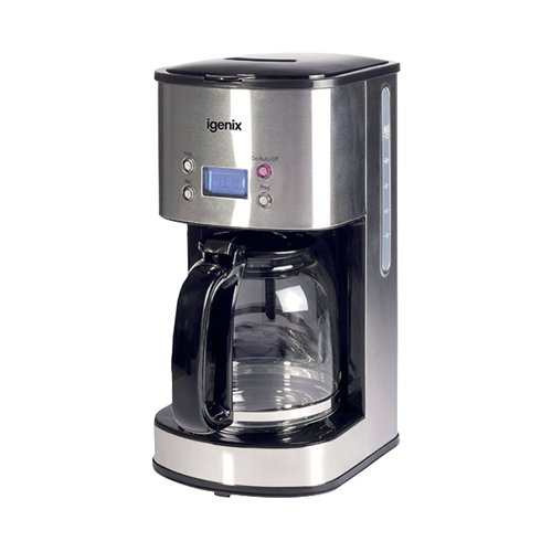 Digital 10 Cup Coffee Maker Silver IG8250