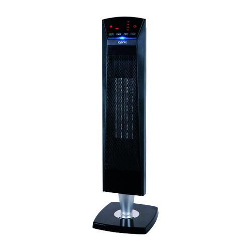 2kW PTC Ceramic Tower Fan Heater Black IG9031