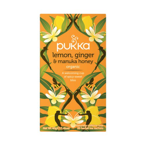 Pukka Lemon Ginger and Manuka Tea (Pack of 20) P5049