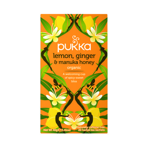 Pukka Lemon Ginger and Manuka Tea (Pack of 20) P5049 Hot Drinks PK01153
