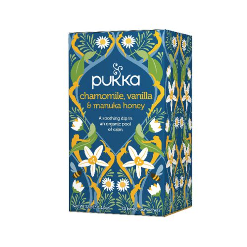 Pukka Chamomile Vanilla and Manuka Tea (Pack of 20) P5032