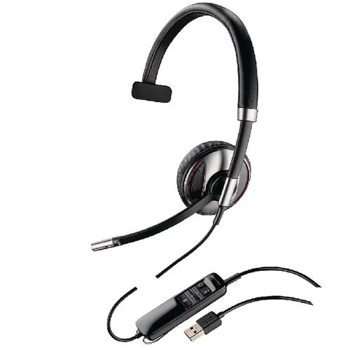 Plantronics Black Wire C710-M USB Headset Monaural Microsoft-Compatible 48188