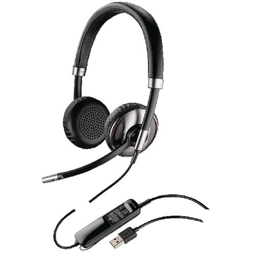 Plantronics Black Wire C720 USB Headset Binaural UC-Compatible 48189