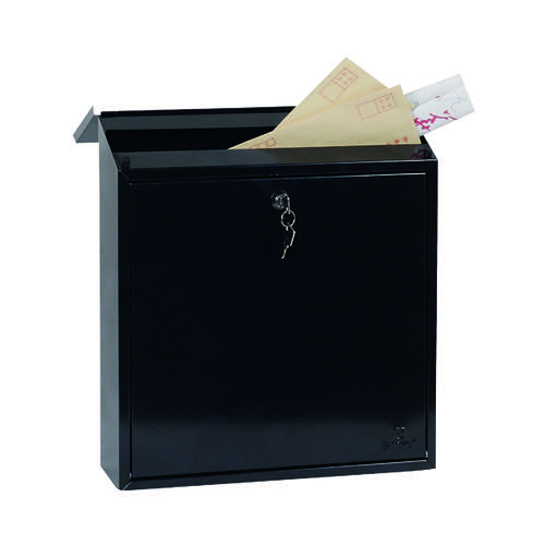 Phoenix Casa Top Loading Mail Box Black (Weatherproof corrosion and rust resistant) MB0111KB