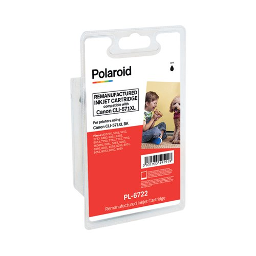 Polaroid Canon CLI-571XL Black Inkjet Cartridge 0331C001-COMP