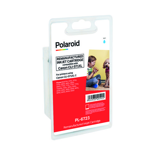 Polaroid Canon CLI-571XL Cyan Inkjet Cartridge 0332C001-COMP