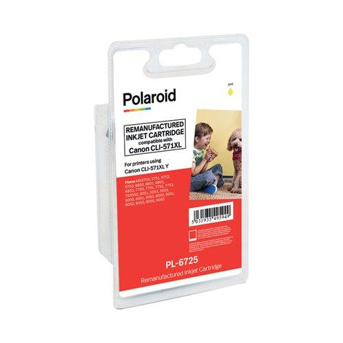 Polaroid Canon CLI-571XL Yellow Inkjet Cartridge 0334C001-COMP